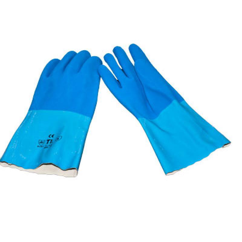 Latex Handschuhe, blau  chemisch-beständig 1 Paar
