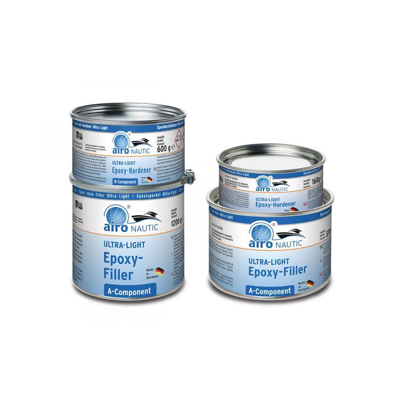 Airo Nautic Leichte Epoxy Spachtel 3 Liter = 1,8 kg Ultra Lightweight  hellgrau 2:1