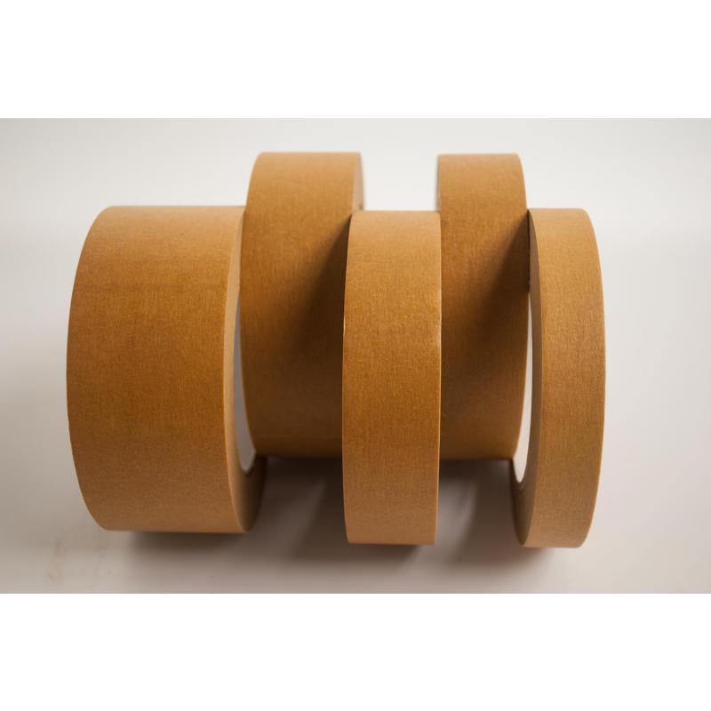 Premium Abdeckband 19 mm x 50 m  temperaturbeständig 120 °C wasserfest braun Abklebeband 48 Stk/Krt